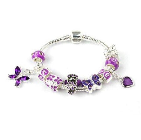 Fairy Wishes Silver Plated Charm Bracelet