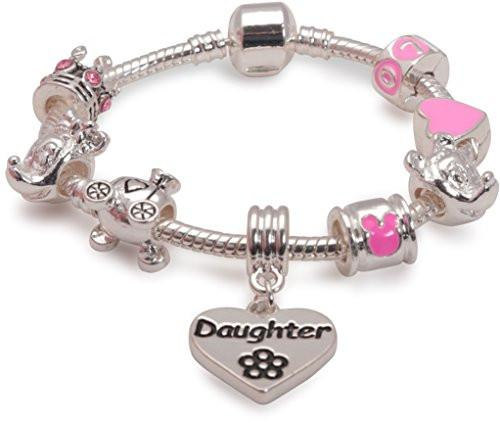 Fairytale Dreams Daughter Silver Plated Charm Bracelet For Girls