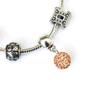 Adult's Gemini 'The Twins' Zodiac Sign Silver Plated Charm Bracelet (May 21-June 20)
