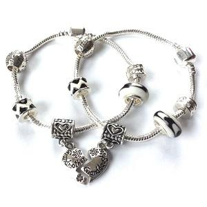 Adult's Granddaughter 'Half Heart Love Always' Silver Plated Charm Bracelet