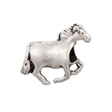 Silver Plated Horse Charm