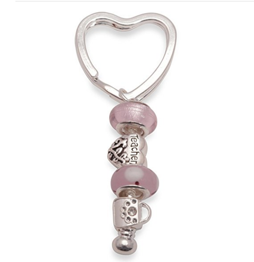 Pink Lady Keyring or Handbag Charm for  Teacher Gift Ideas or Teacher Gifts