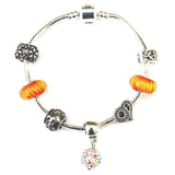 Adult's Leo 'The Lion' Zodiac Sign Silver Plated Charm Bracelet (July 23-Aug 22)