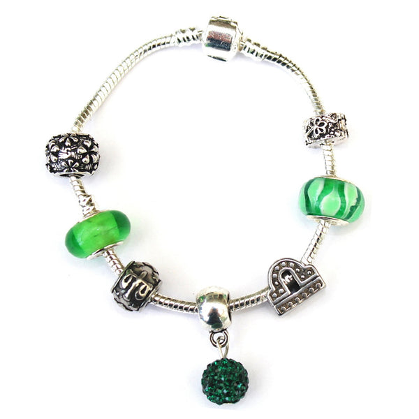 Adult's Libra 'The Scales' Zodiac Sign Silver Plated Charm Bracelet (Sept 23-Oct 22)