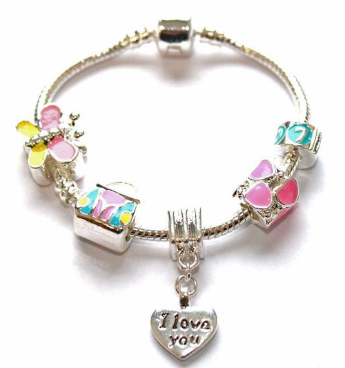 Children's 'Little Treasure' Silver Plated Charm Bead Bracelet