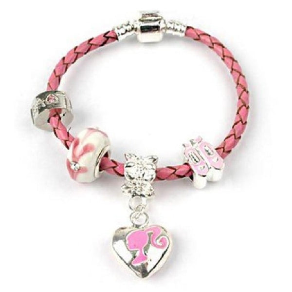 Children's 'Little Miss Pink' Kids Bracelet Pink Leather Bracelet