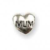 Silver Plated Mum Heart Charm