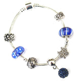 Adult's Pisces 'The Fish' Zodiac Sign Silver Plated Charm Bracelet (Feb 19-Mar 20)