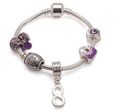 kid bracelet for 8 year old girls. A gift for 8 year old girl. Purple bracelet