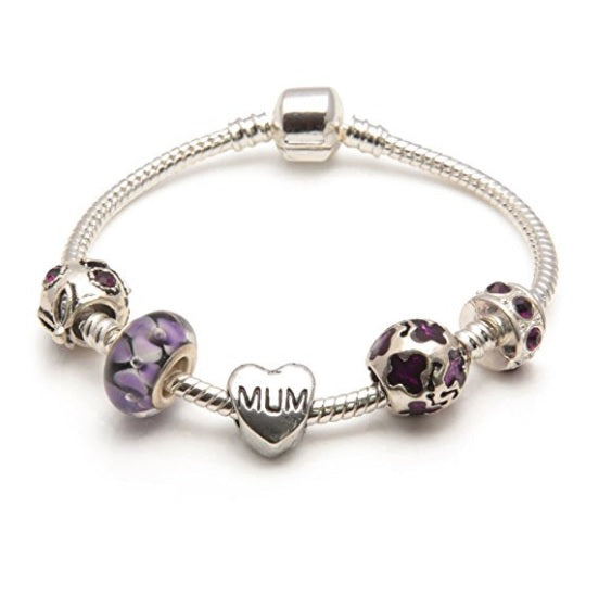 Purple Rush Mum Bracelet or Mum Jewelry as Gifts For Mum
