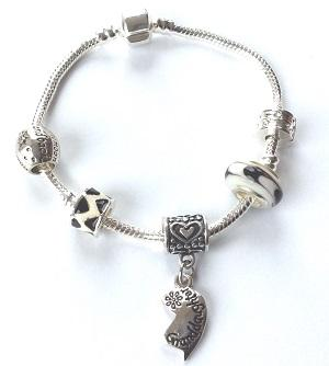 Teenager's Granddaughter 'Half Heart Love Always' Silver Plated Charm Bracelet