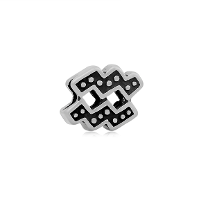 Stainless Steel Aquarius Symbol Charm