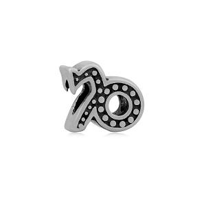 Stainless Steel Capricorn Symbol Charm