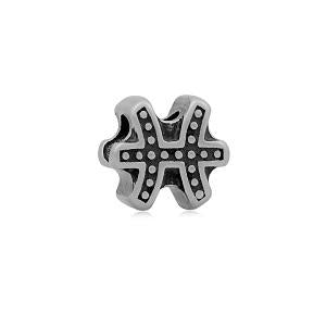 Stainless Steel Pisces Symbol Charm