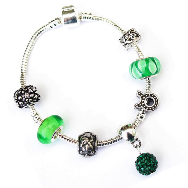 Adult's Taurus 'The Bull' Zodiac Sign Silver Plated Charm Bracelet (Apr 20-May 20)