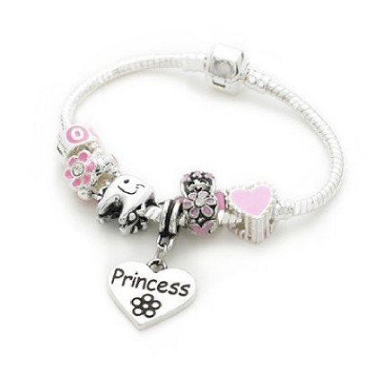 Purple Fairy Silver Plated Charm Bracelet For Girls