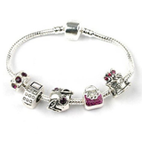 Teenager's 'Birthday Trend Setter' Silver Plated Charm Bead Bracelet