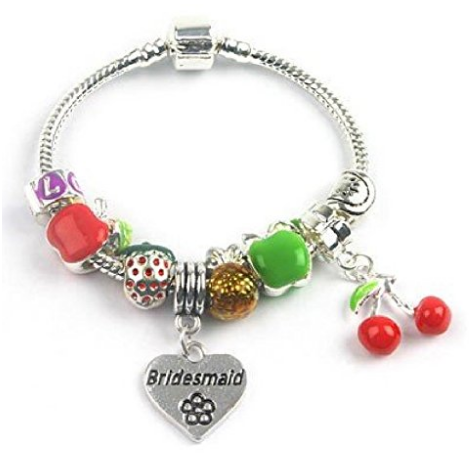 Children's Bridesmaid 'Tutti Frutti' Silver Plated Charm Bead Bracelet