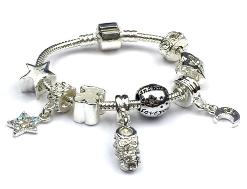 Twinkle Little Star Christening Keepsake Charm Bracelet
