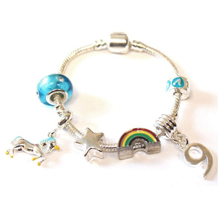 Big Sister Happy Birthday Princess Plated Charm Bracelet Gift