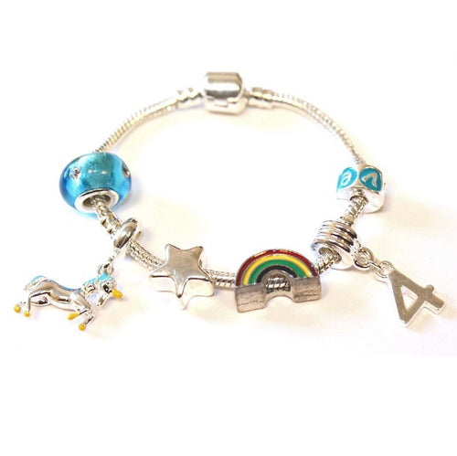 Uicorn bracelet for 4 year old girls. A gift for 4 year old girl