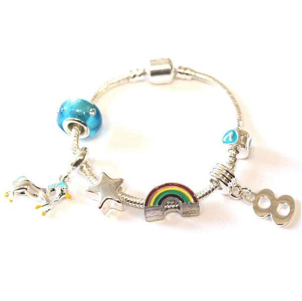 with Gift Box Other Girls Birthday Gift Present Liberty Charms Childrens Magical Unicorn Silver Plated Charm Bead Bracelet