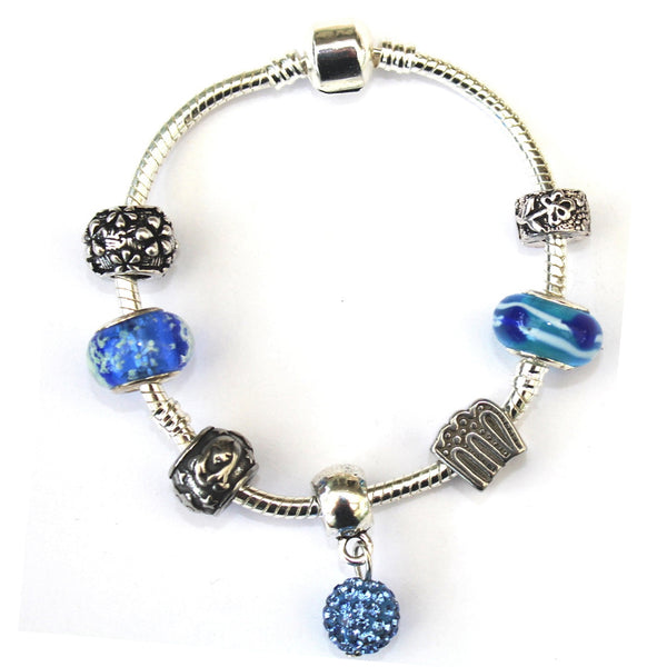 Adult's Virgo 'The Virgin' Zodiac Sign Silver Plated Charm Bracelet (Aug 23-Sept 22)