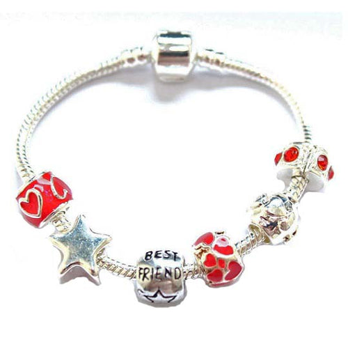 Children's Best Friend 'You Are a Star' Silver Plated Charm Bead Bracelet
