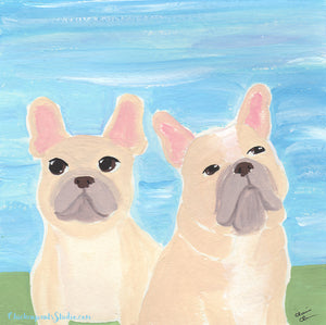 107 / 366 - Brothers - French Bulldog Painting