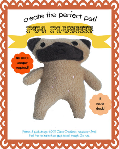 Plush Pug Sewing Pattern