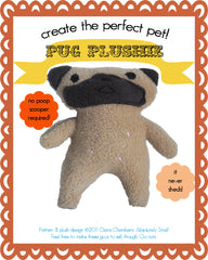 Pug Plushie Sewing Pattern