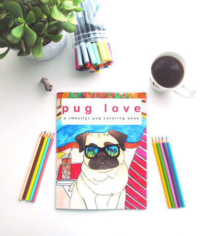 Pug Love Coloring Book