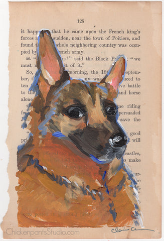 Steady - Original German Shepherd Painting