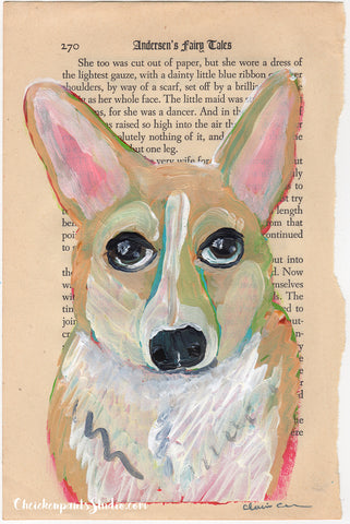 You're Not Cheddar! - Original Corgi Painting