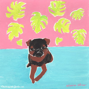 Leaf Me Alone - Original Brussels Griffon Painting