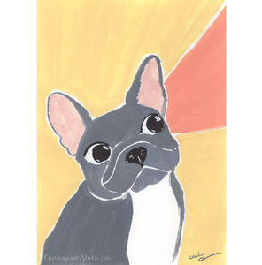 Listen! - Original French Bulldog Painting