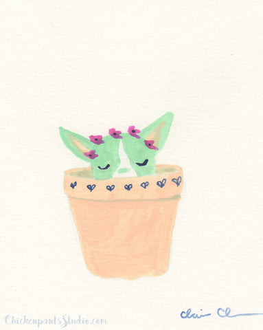 Cactus Pup no. 3 - Original Painting