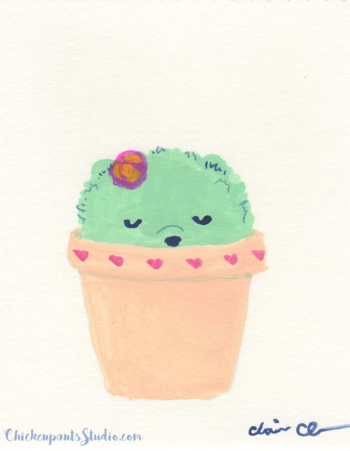 Cactus Pup no. 4 - Original Painting