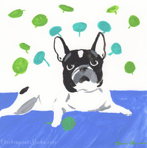 Pilea - Original French Bulldog Painting