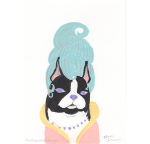 Suzette - Original Boston Terrier Painting