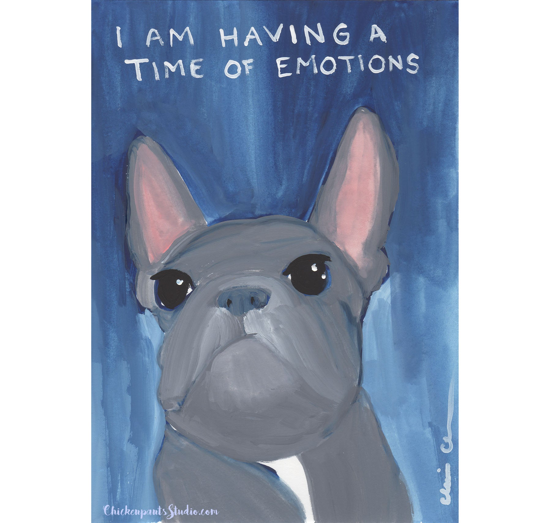 Time Of Emotions -  Original French Bulldog Painting