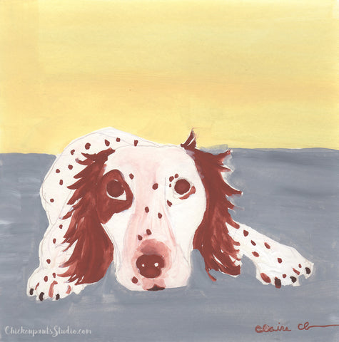 I Feel A Nap Coming On - Original Brittany Spaniel Painting