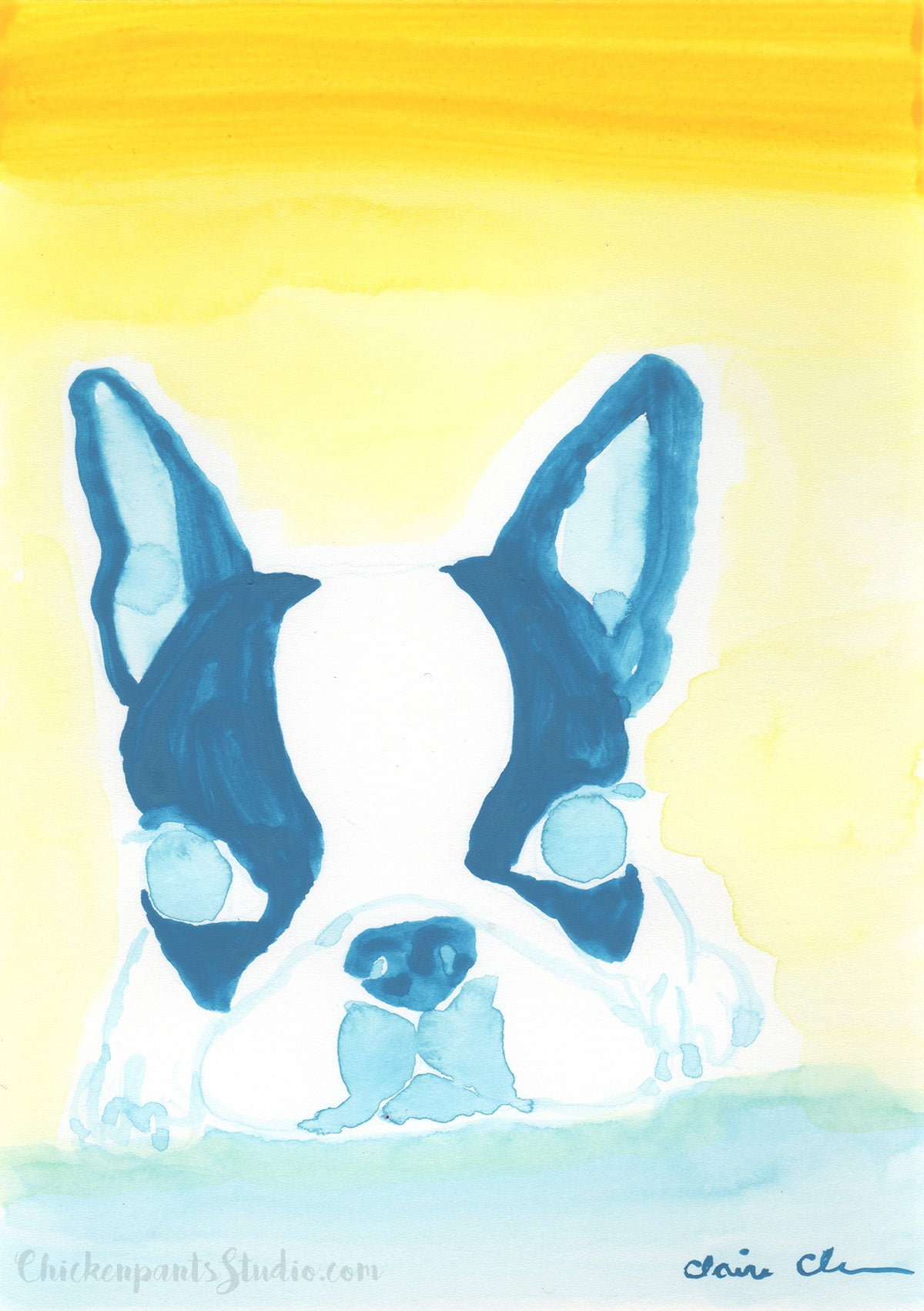 My Sunshine - Original Boston Terrier Painting