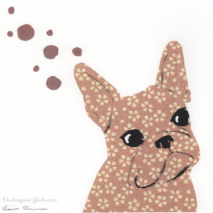 Calico -  Original French Bulldog Painting