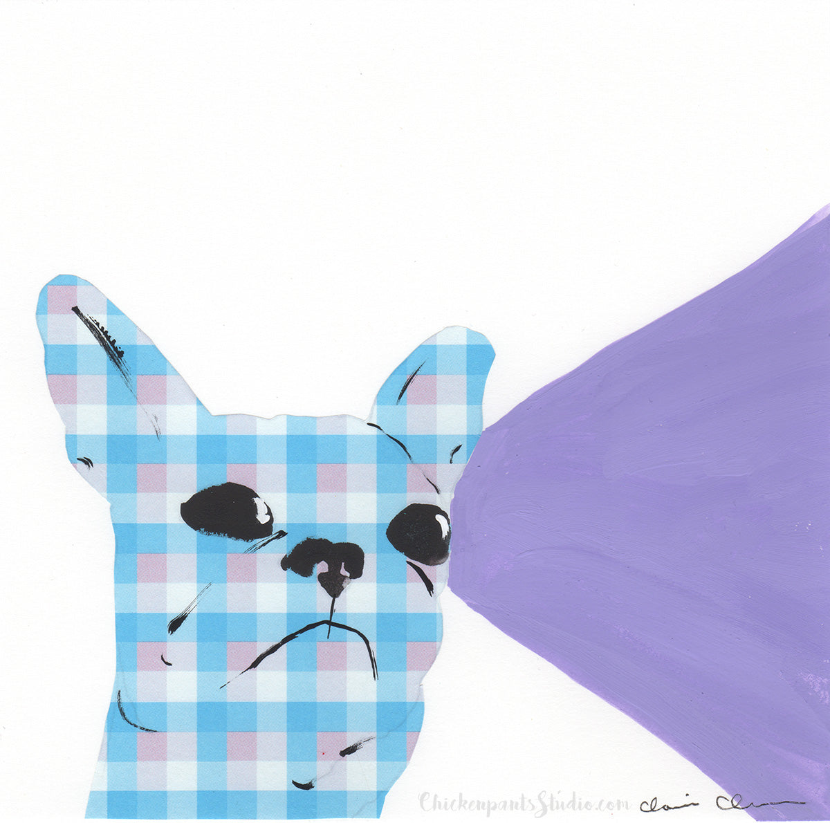 Paying Attention -  Original French Bulldog Painting