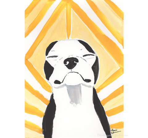Hello Sunshine - Original Boston Terrier Painting