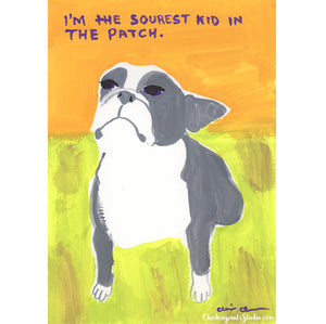 The Sourest Kid In The Patch -  Original Boston Terrier Painting