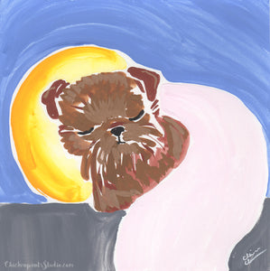 Dreamtime -  Original Brussels Griffon Painting