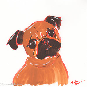 Sweet Behbeh - Original Brussels Griffon Painting