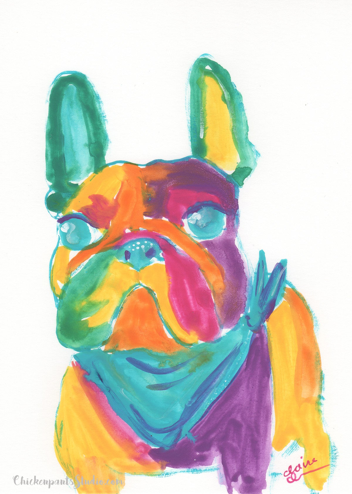 Jules - Original French Bulldog Painting